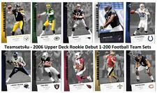 2006 Upper Deck Rookie Debut (1-200) Football Set ** Pick Your Team **