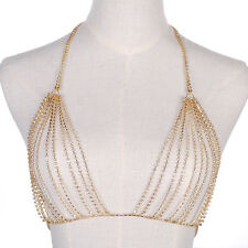 Hot Chic Shiny Crystal Rhinestone Bra Chest Body Chains Harness Necklace Jewelry