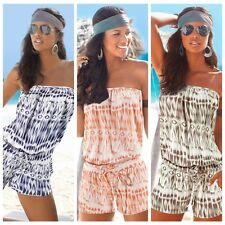 Beach Women Strapless Wrapped Chest Slim Jumpsuit Playsuit Romper Crop Top New