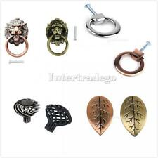 Retro Cabinet Pull Door Knob Cupboard Handle Door Ring Lion/Leaf/Ring/Cage Type