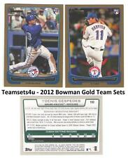 2012 Bowman Gold Baseball Set ** Pick Your Team **