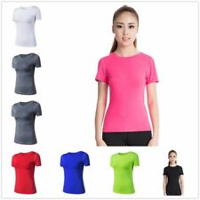 Women's Summer Short Sleeves Men's Sports T-Shirt Gym Fitness Casual Tops Tee