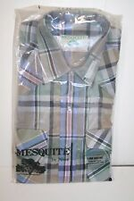 MESQUITE by Niver Mens S/S Western Shirt, Green Plaid, Size 14 1/2, NWT