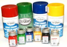 Testors Enamel & Lacquer Paints, 3 oz. spray or 1/4 oz. bottle, Many Colors