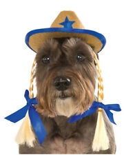Cowgirl Hat With Braids Hat For Pet Dog Costume Accessory