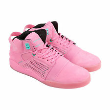 Supra Skytop III Mens Pink Suede Lace Up Trainers Shoes
