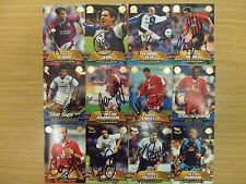 AUTOGRAPHED TOPPS PREMIER GOLD 2002 CARDS: (A-F)  CHOOSE FROM LIST: FREE UK P&P