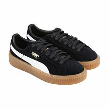 Puma Suede Platform Core Womens Black Suede Lace Up Lace Up Sneakers Shoes