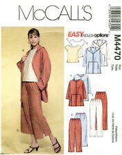 McCalls M4470 Misses Easy Jackets Top Pants Sewing Pattern