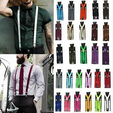 New Unisex Elastic Y-Shape Braces Mens Womens Adjustable Clip-on Suspenders O0X7