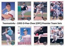 1993 O-Pee-Chee (OPC) Premier Baseball Set ** Pick Your Team **