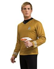 Star Trek Into Darkness Gold Captain Kirk Adult Deluxe Command Costume Shirt