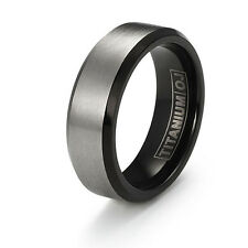 7mm Titanium Ring Free Engraving Titanium Wedding Band Comfort Fit SZ 6-12