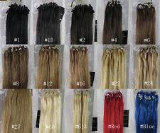 """OK More Colors 20""""-26"""" Remy Human Hair Loop Tip In Extensions 100s 50g-100g USPS"""