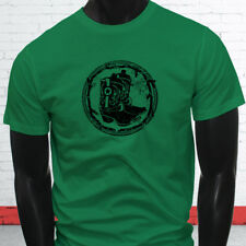 RODEO COWBOY BOOTS BLACK COUNTRY WESTERN COWGIRL Mens Green T-Shirt