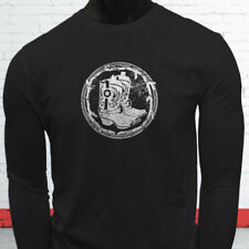 WESTERN COWBOY BOOTS RODEO COWGIRL COUNTRY HOWDY Mens Black Long Sleeve T-Shirt