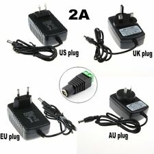 AC DC 110-240V 12V 2A Power Supply Adapter Charger for 3528 5050 LED Strip CCTV