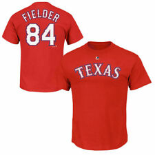 Majestic Prince Fielder Texas Rangers Red Official Name and Number T-Shirt
