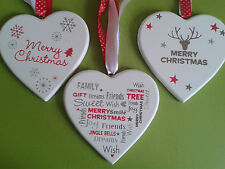 |Christmas Heart Tree Decoration Handcrafted Plaque New Clearance Sale