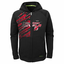 Reebok New Jersey Devils Youth Black TNT PlayDry Full Zip Hoodie - NHL
