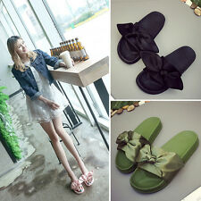 Womens Bow Slippers Ladies Sandals Mujer Luxury Slides Flip Flops Solid shoes