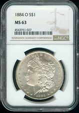 1884-O Morgan Silver Dollar NGC MS-63