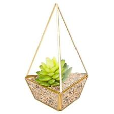 Geometric Glass Flower Pot DIY Terrarium Container Tealight Candle Holder