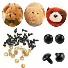 100Pcs 6-16mm Black Plastic Safety Eyes For Teddy Bear Dolls Toy Animal Felting