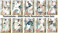 2000 Pacific Revolution Baseball Set ** Pick Your Team **