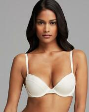 NEW CALVIN KLEIN CREAM  LACE PUSH UP CUP UNDERWIRE BRA 10D / 32D RRP $79.95