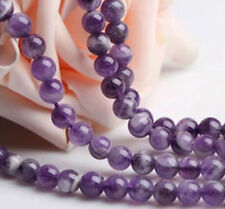 4-16mm Natural Jewelry Round Purple Crystal Gemstone Beads Loose Spacer Makings