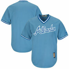 Majestic Atlanta Braves Light Blue Cooperstown Cool Base Replica Team Jersey