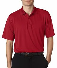 UltraClub Mens 8255 Knit Shirt Cool & Dry Jacquard Performance Polo NEW