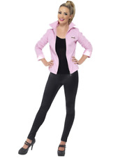 Grease Deluxe Pink Ladies Satin Frenchie Rizzo 1950's Jacket Fancy Dress Costume