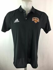 Houston Dynamo Men's Sideline Coaches Climalite Polo Black Adidas S - L MLS A9L