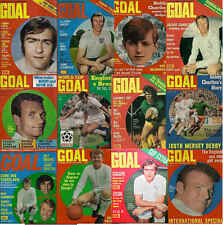 GOAL football magazine A4 COVER retro picture poster Leeds United - VARIOUS