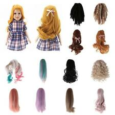 Fashion Dolls Wig Curly/Straight Hairpiece Hair for 18 Inch Ameican Girl Doll