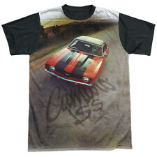 Chevy Camaro Ss Mens Sublimation Black Back Shirt White