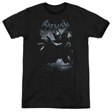 Batman Arkham Origins Out Of The Shadows Mens Adult Heather Ringer Shirt