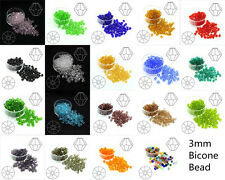 Lots Color 100pcs 3mm Bicone Crystal Beads Charm Loose  Bead DIY Jewelry Making