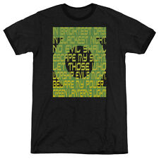 Green Lantern Green Lantern Oath Mens Adult Heather Ringer Shirt Black