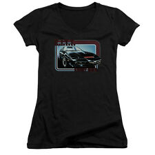 Knight Rider Kitt Juniors V-Neck Shirt