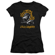 Miles Davis Jazz Legend Juniors Premium Bella Shirt