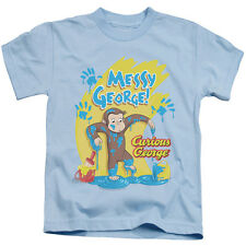 Curious George Messy George Little Boys Juvy Shirt LIGHT BLUE (4)