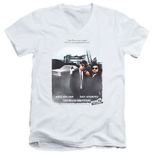 Blues Brothers Distressed Poster Mens V-Neck Shirt