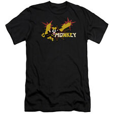 Dexters's Laboratory Monkey Mens Premium Slim Fit Shirt