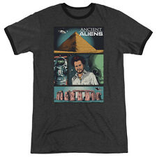 Ancient Aliens Aliens Comic Page Adult Heather Ringer Shirt