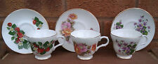 CROWN TRENT - SELECTION OF TEA CUPS & SAUCERS.