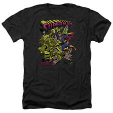 Superman Versus Metallo Blacklight Mens Heather Shirt Black