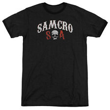 Sons Of Anarchy Samcro Forever Mens Adult Heather Ringer Shirt Black